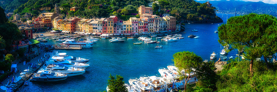 Portofino port in Italy